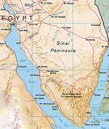 Cartina Africa Egitto.Penisola Del Sinai Penisola Egitto Monte Sinai Beduini D Egitto Egitto It